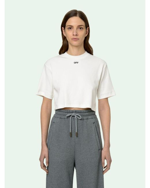 Off-White c/o Virgil Abloh クロップド Tシャツ White