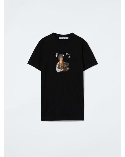 メンズ Off-White c/o Virgil Abloh Caravaggio Boy Tシャツ Black
