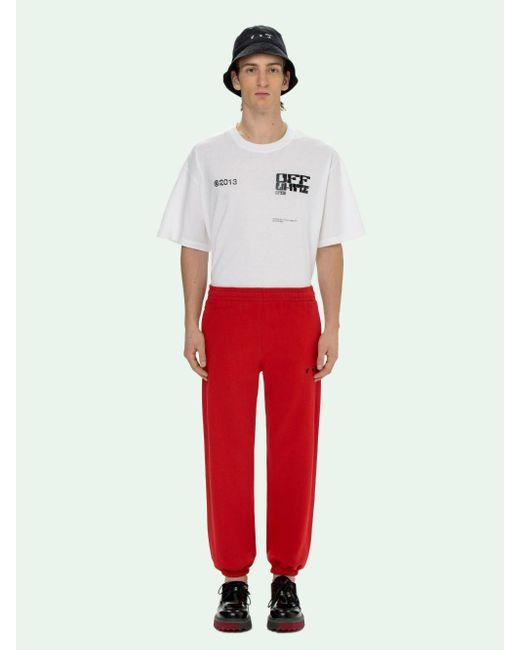 メンズ Off-White c/o Virgil Abloh ロゴ トラックパンツ Red