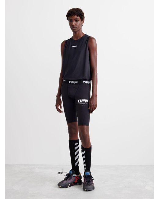 メンズ Off-White c/o Virgil Abloh ロゴ サイクリングショーツ Black