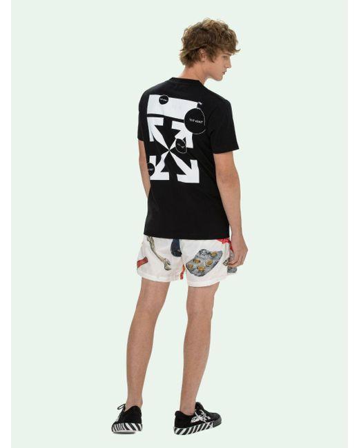 メンズ Off-White c/o Virgil Abloh Cut Here Tシャツ Black