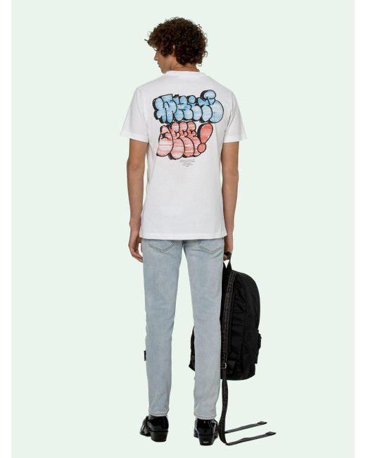 メンズ Off-White c/o Virgil Abloh ロゴ Tシャツ White