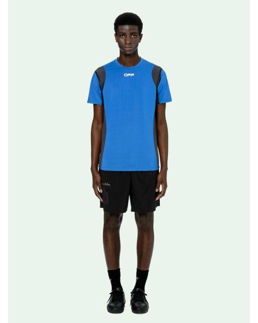 メンズ Off-White c/o Virgil Abloh ロゴ Tシャツ Blue