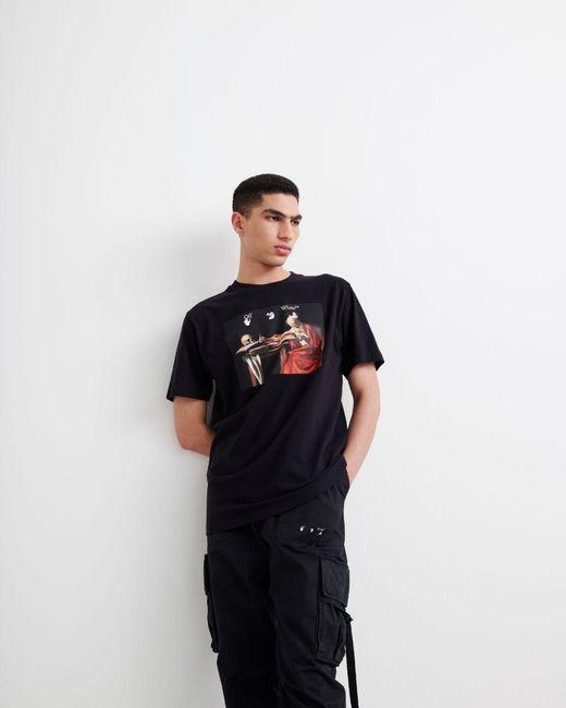 メンズ Off-White c/o Virgil Abloh Caravaggio Painting Tシャツ Black