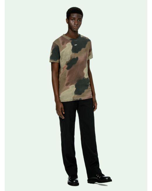 メンズ Off-White c/o Virgil Abloh カモフラージュ Tシャツ Green