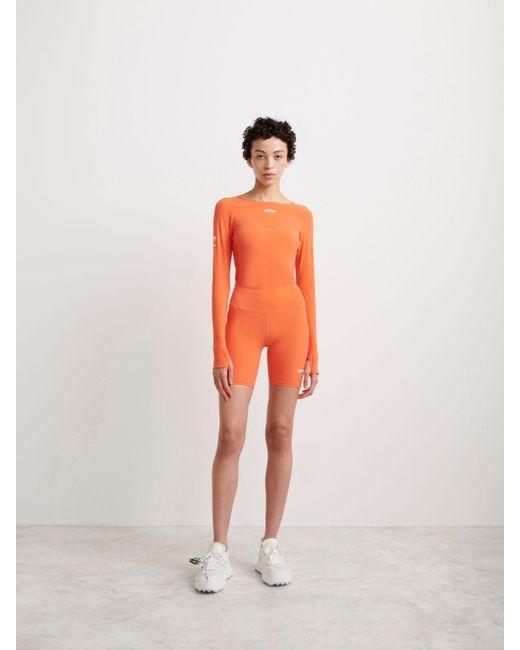 Off-White c/o Virgil Abloh コンプレッション サイクリングショーツ Orange