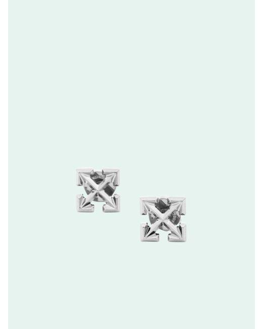 Off-White c/o Virgil Abloh ロゴ ピアス Metallic