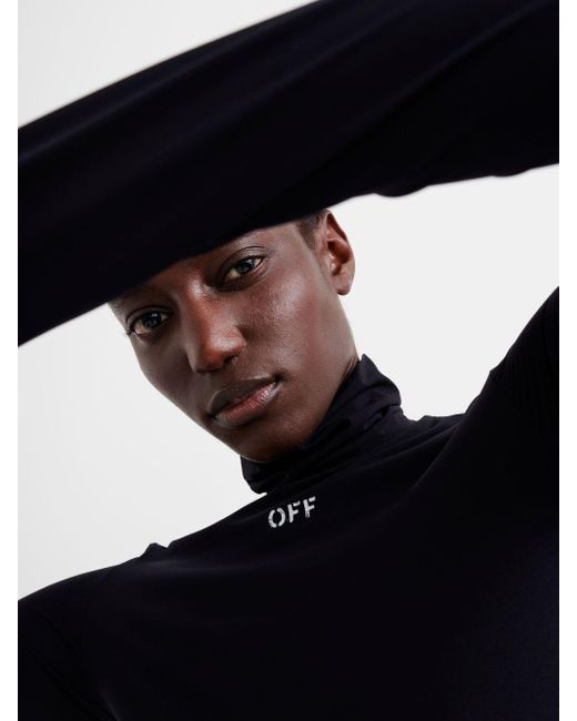 Off-White c/o Virgil Abloh ハイネック ロングtシャツ Black