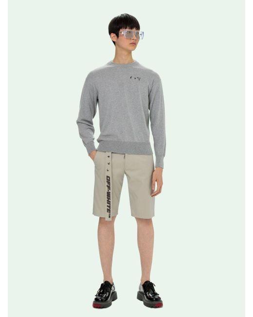 メンズ Off-White c/o Virgil Abloh ロゴ スウェットシャツ Gray