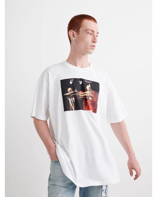 メンズ Off-White c/o Virgil Abloh Caravaggio Tシャツ White