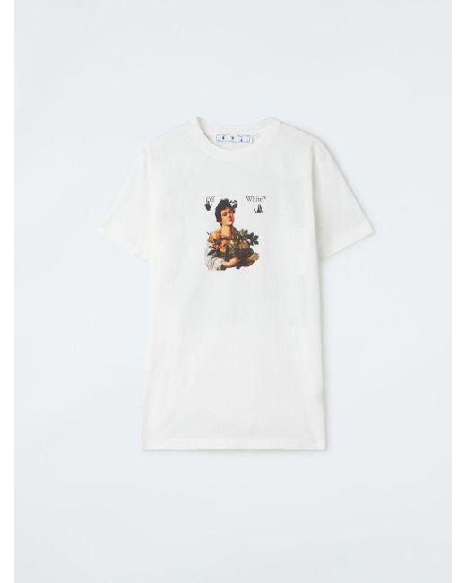 メンズ Off-White c/o Virgil Abloh Caravaggio Boy Tシャツ White