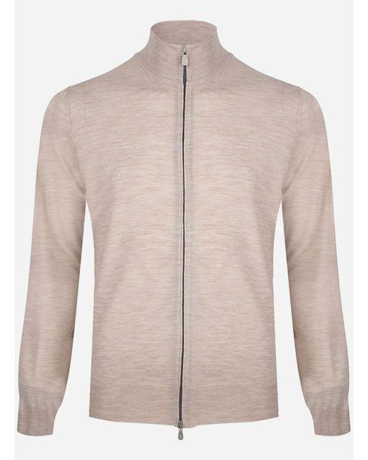 Brunello Cucinelli Regular-fit Cashmere-wol Ritsvest Beige in het Natural voor heren