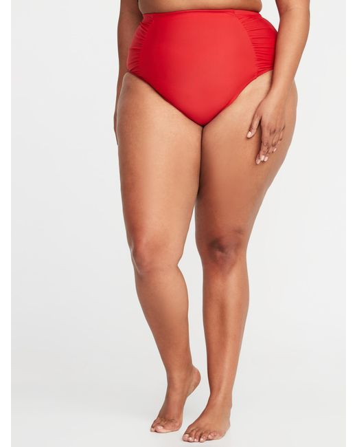e0f7354f8b4 Lyst - Old Navy Plus-size High-waist Swim Bottoms in Red