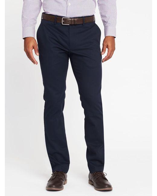 Old Navy - Blue Slim Signature Built-in Flex Non-iron Pants for Men - Lyst