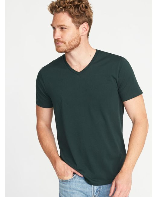 Old Navy - Green Soft-washed Perfect-fit V-neck Tee for Men - Lyst