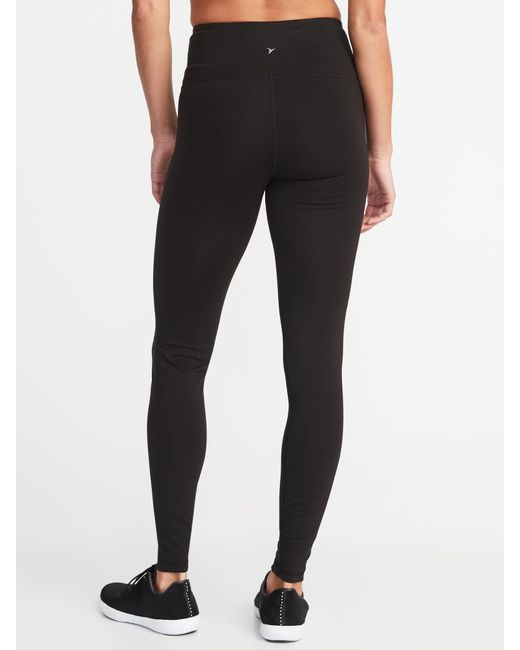 Old Navy Synthetic High Waisted Elevate Compression Leggings In Black Lyst