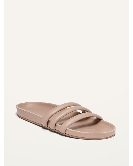Old Navy Multicolor Faux-leather Triple-strap Slide Sandals