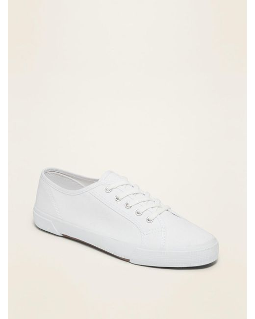 Old Navy Canvas Sneakers in White - Lyst