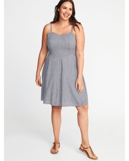 Lyst Old Navy Plus Size Fit Flare Cami Dress In Blue