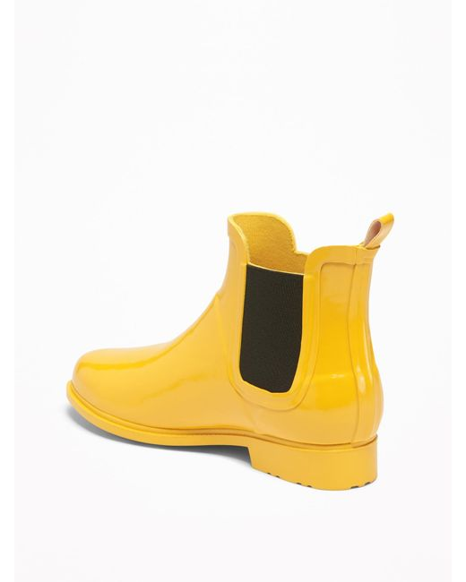 Old Navy Rubber Ankle Rain Boots For Women In Mustard -8926