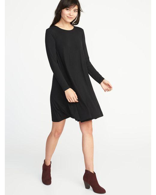 81bf08fdad6b6 Lyst - Old Navy Jersey Swing Dress in Black