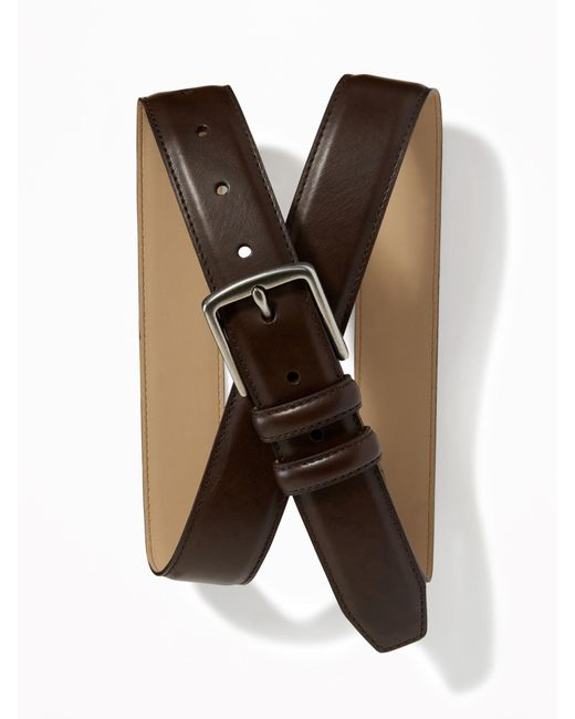 Old Navy - Brown Faux-leather Belt for Men - Lyst
