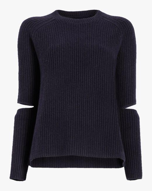 Zoe Jordan Blue Turning Cashmere Wool Sweater