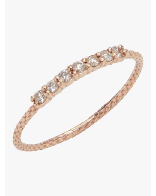 Jacquie Aiche Multicolor 7 Diamond Vintage Waif Ring