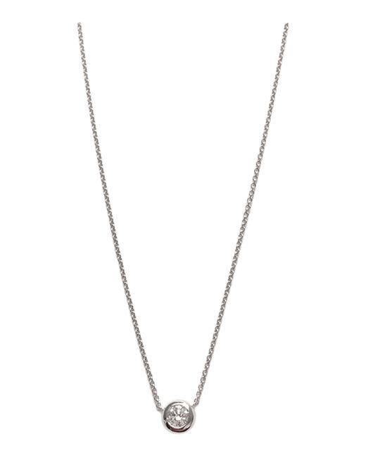 Roberto Coin Metallic Diamond Station Pendant Necklace
