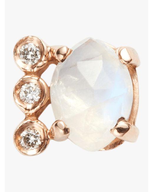 Jacquie Aiche Multicolor Diamond Aquamarine Bar Earring
