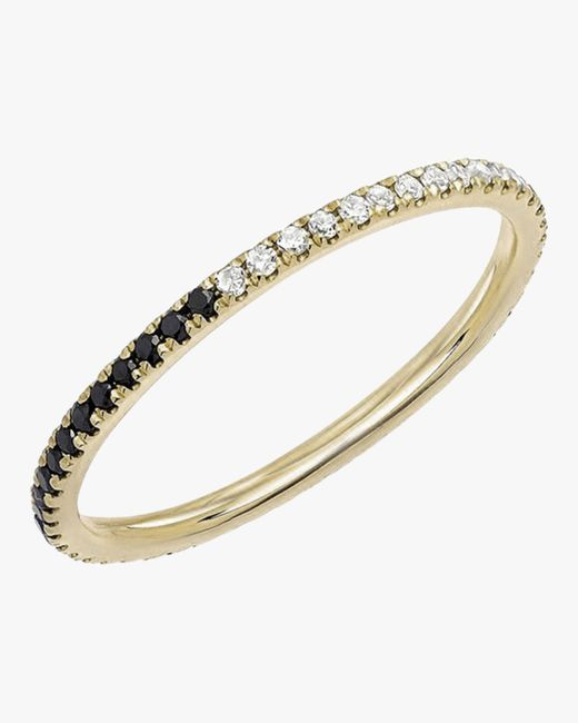 EF Collection Metallic Two-tone Diamond Eternity Band