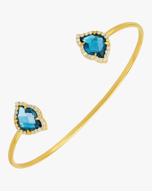 Amrapali - Blue Nalika Lotus Topaz Cuff Bracelet - Lyst