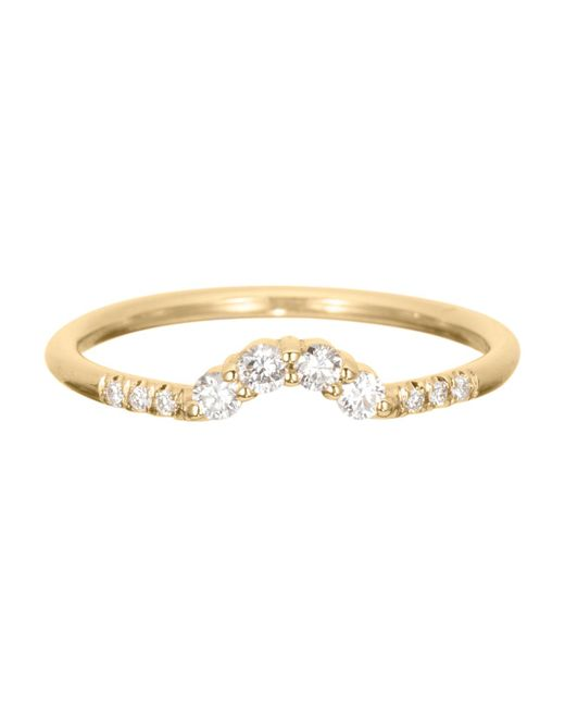 Jennie Kwon - Metallic Diamond Arch Ring - Lyst