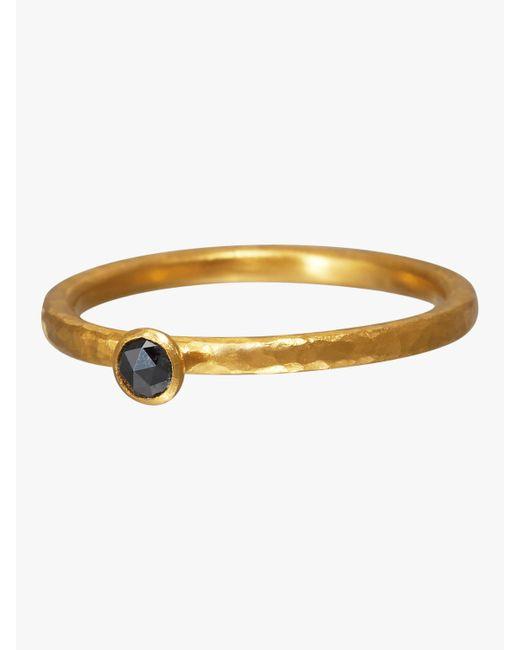 Gurhan - Metallic Stacking Skittle Black Diamond Ring - Lyst