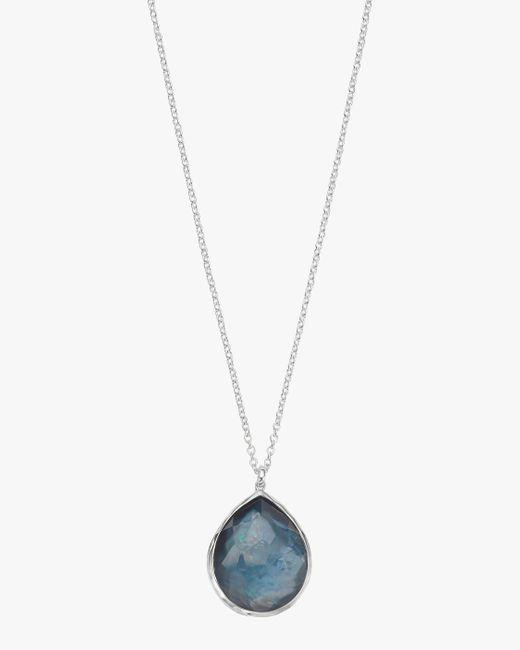Ippolita Blue Wonderland Large Teardrop Pendant Necklace