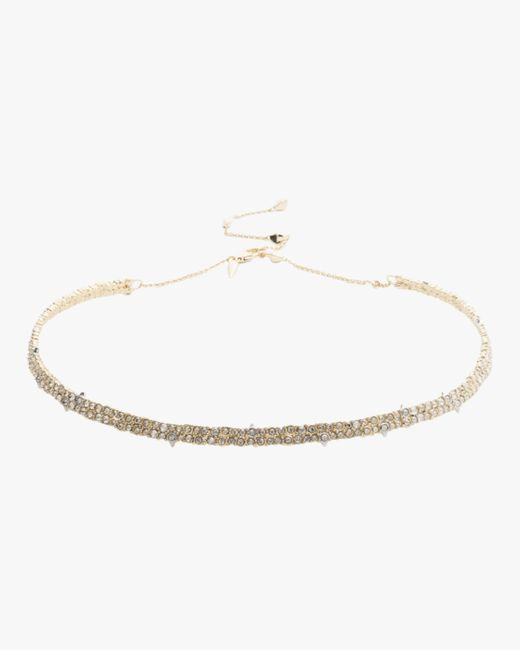 Alexis Bittar Metallic Spike Accented Choker Necklace