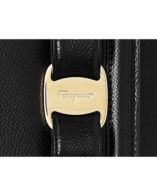 c63579b653a ... Ferragamo - Black Ginny Medium Shoulder Bag - Lyst ...