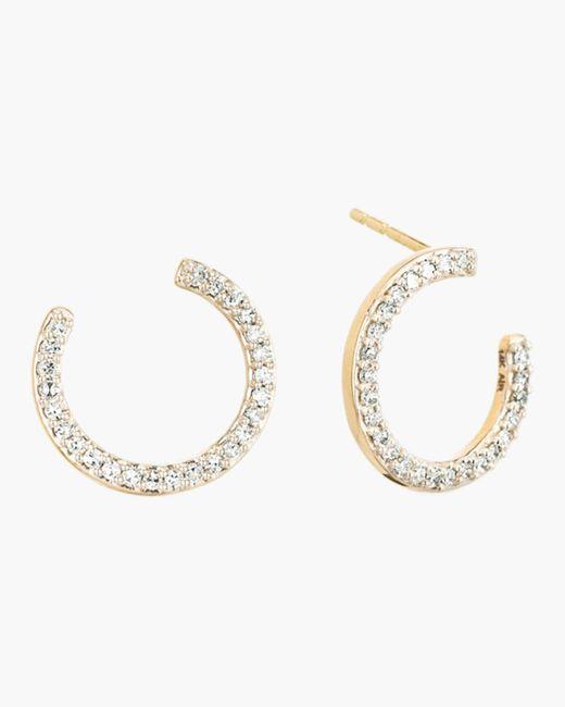 Adina Reyter - Metallic Pavé Wrap Hoop Earrings - Lyst