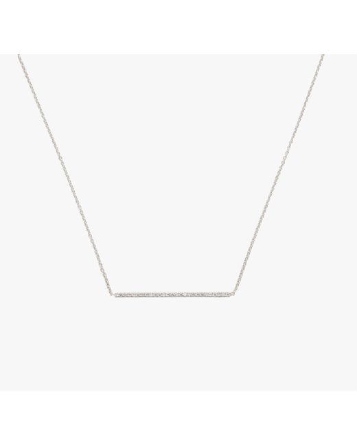 Roberto Coin - Metallic 18k Dia Bar Necklace - Lyst