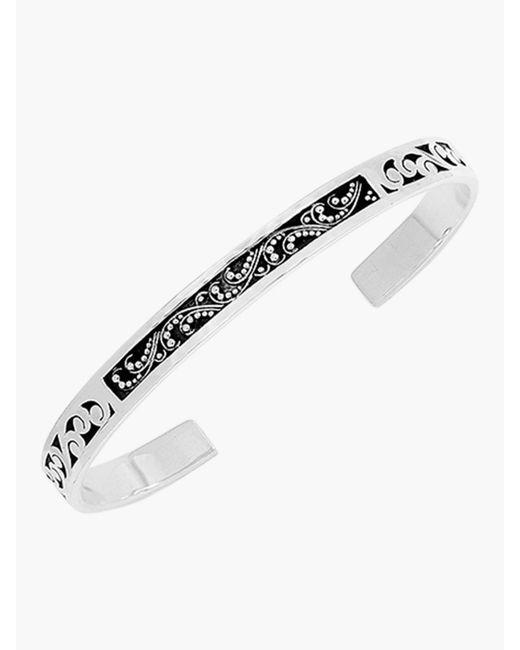 Lois Hill - Metallic Hand Carved Thin Cuff Bracelet - Lyst
