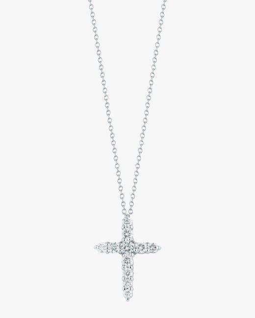 Roberto Coin Metallic Cross Pendant Necklace