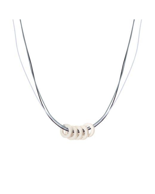 Oliver Bonas - Blue Mikawari Cord Necklace - Lyst
