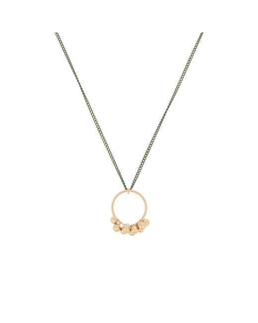 Oliver Bonas - Metallic Nima Hoop & Sphere Pendant Necklace - Lyst