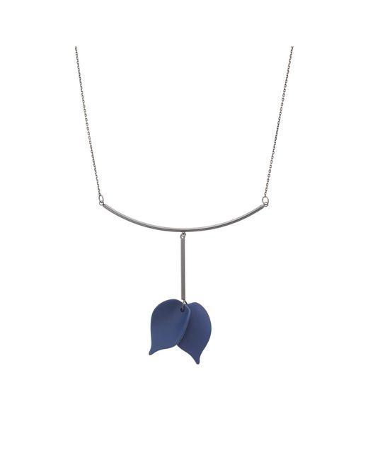 Oliver Bonas - Black Phylida Petal Drop Necklace - Lyst