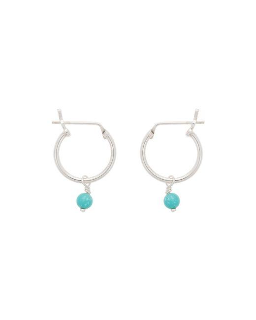 09adb1f3a Oliver Bonas Nou Hoop & Sphere Turquoise Silver Earrings in Blue - Lyst