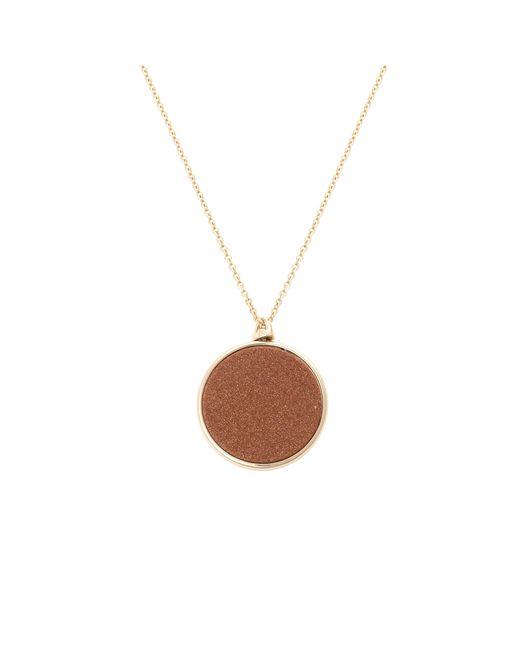 Oliver Bonas - Metallic Gita Reversible Stone & Disc Pendant Necklace - Lyst