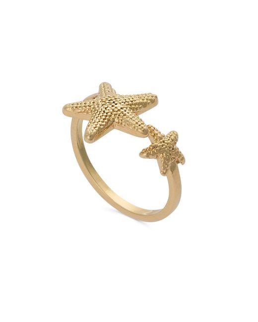 Oliver Bonas - Metallic Nerissa Starfish Open Ring - Lyst