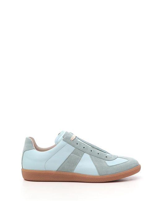 Maison Margiela Multicolor Aqua Green Leather/canvas Replica Low-top Sneakers for men