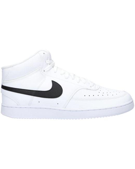 Nike Weiße Sneaker Low Court Vision Mid in White für Herren