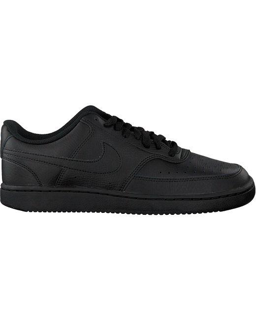 Nike Schwarze Sneaker Low Court Vision Low in Black für Herren